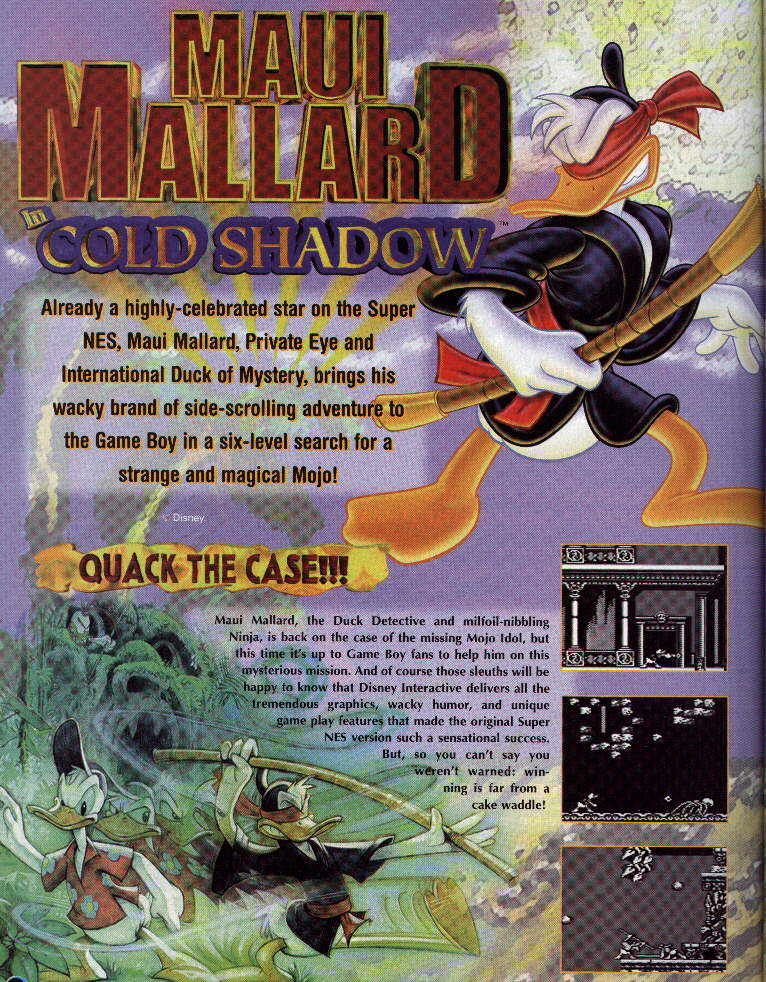 Maui Mallard review Nintendo Power featured